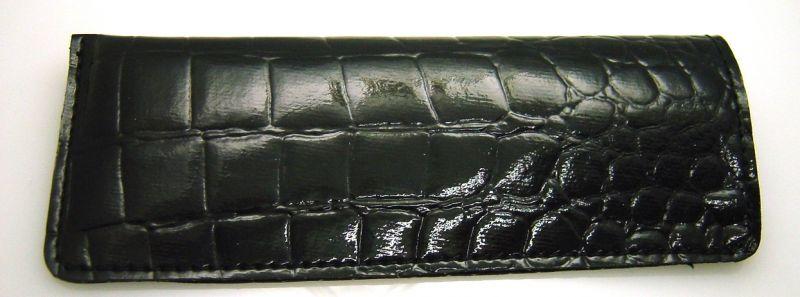画像1: クロコ調ケース ブラック(L)